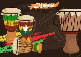 Djembe Afrikanische Percussion vektor