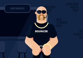 bouncer illustration vektor