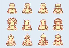 Mongoliet ikoner vektor
