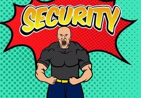 Bouncer Sicherheit Pop Art Hintergrund