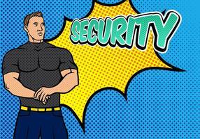 Bouncer Sicherheit Pop Art Hintergrund vektor