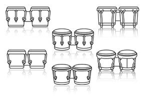 Bongo linjer ikon vektor