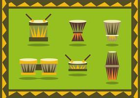 Bongo Instrumente Afrikanischer Vektor
