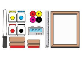 Siebdruck-Vektor-Set vektor