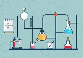 Free Beaker Flask Experiment Vektor-Illustration