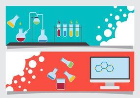 Wissenschaft Banner Vektoren
