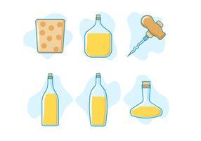 Freie hervorragende Kork- und Flaschenvektoren
