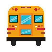 Rückseite eines Cartoon-Schulbusses vektor