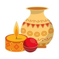ugadi indische Feier Embleme Cartoons