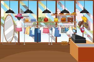 mode kläder butik bakgrund vektor