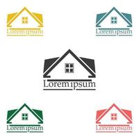 Immobilien Vektor Logo Design Vorlage Farbsatz.