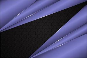 modern svart och violett metallisk bakgrund vektor
