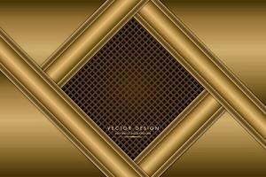 modern gyllene metallisk bakgrund vektor