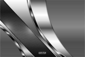 moderner grauer und silberner metallischer Hintergrund vektor