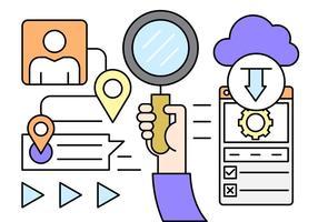 Kostenlose Online-Forschungs-Icons vektor