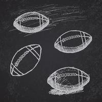 rugby amerikansk fotboll skiss på tavlan
