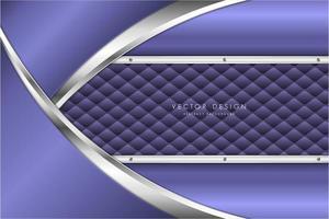 moderner silberner und violetter metallischer Hintergrund