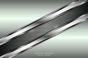 modern grön och silver metallisk bakgrund vektor