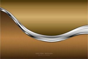 moderner metallischer Hintergrund aus Gold und Silber
