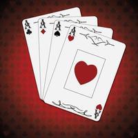 ess av spader, hjärtan, diamanter och klubbar vektor