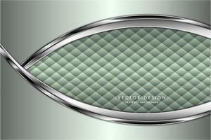 moderner grüner und silberner metallischer Hintergrund