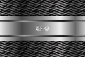 moderner dunkelgrauer und silberner metallischer Hintergrund vektor