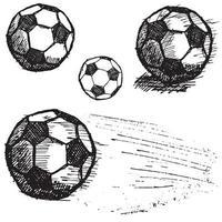 Fußball Fußball Skizze Set isoliert vektor