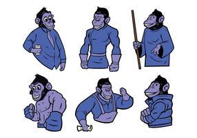 Free Monkey Maskottchen Vektor