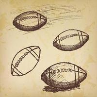rugby amerikansk fotboll skiss på gammalt papper
