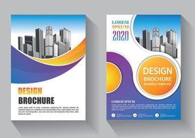 flygblad mall design för omslagslayout årsrapport vektor
