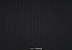 Vector nahtlose Muster von einem schwarzen Lautsprecher Grill