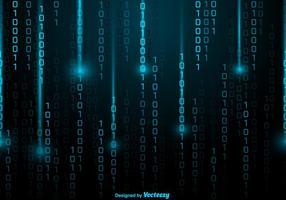 Vektor Blue Matrix Style Bakgrund