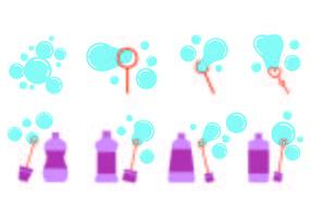 Set Bubble Blower Icons vektor