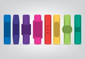 Smart Wristband Ikoner Set vektor