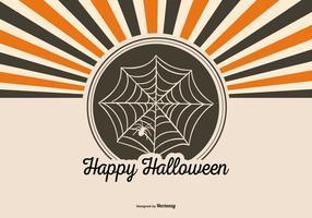 Retro stil Halloween bakgrund vektor