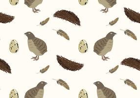 quail fågelmönster fri vektor