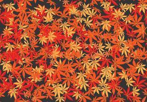 Die japanische Ahorn Nahtlose Muster Vektor