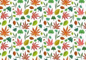 Freie asiatische Blätter Muster Vektoren