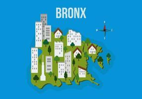 Bronx-Karte mit Gebäude-Vektor-Illustration vektor