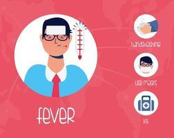 Patienten- und Präventionsmethoden mit Charakter vektor
