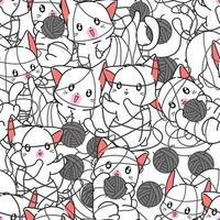 nahtlose Katzen sind ungezogenes Muster. vektor