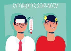 Coronavirus-Prävention und Symptome Banner vektor