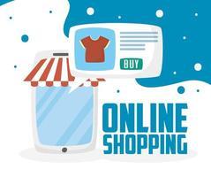 Tablet mit Online-Shopping-Technologie