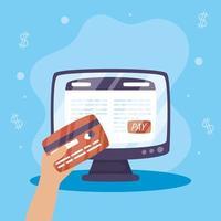 Online-Zahlungstechnologie mit Kreditkarte
