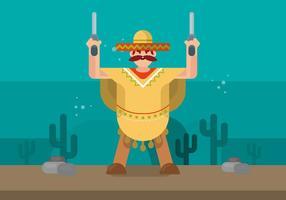 Mann in Poncho Illustration vektor