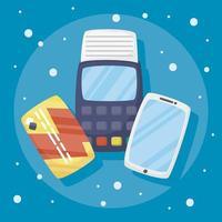Smartphone mit Online-Shopping-Technologie