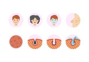 Kostenlose Pimple Icons vektor