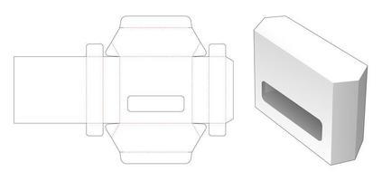 sechseckige Blechdose gestanzte Schablone vektor
