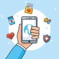 Online-Gesundheitstechnologie über Smartphone
