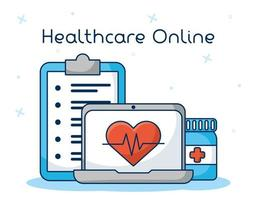 Online-Gesundheitstechnologie über Laptop